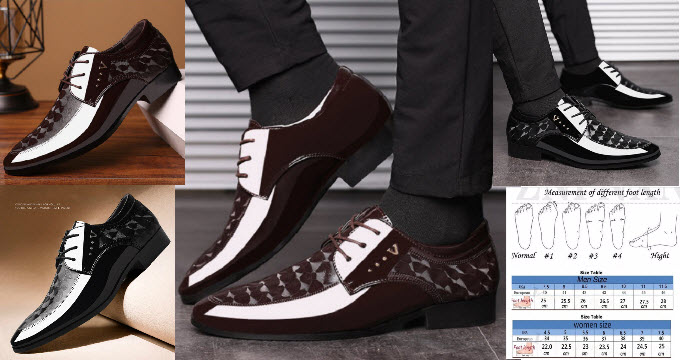 Office Men Formal Shoes Leather Luxury Fashion